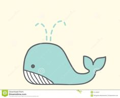 cute whale cartoon drawing - Google Search