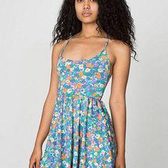Floral Nylon Tricot Figure Skater Dress