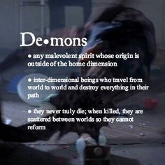 Demons in case you needed to know
