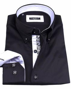 Men's French shirts - Eiffel Black | UrUNIQUE.com