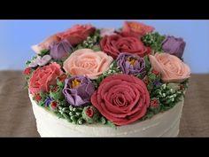 BUTTERCREAM FLOWER CAKE TUTORIAL How To Cook That Ann Reardon - YouTube