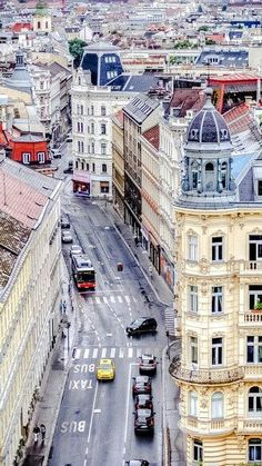 A walk through the city center of Vienna. Austria