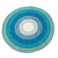 Børnetæppe i blå farver fra Sebra
