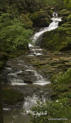 Visiting Mill Creek Falls in York County, Pennsylvania - http://uncoveringpa.com/mill-creek-falls-in-york-county