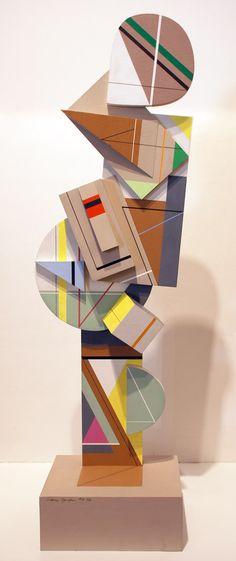 4-86 Gordin, Sidney. Acrylic on board. 1986 45 x 13 x 9 inches