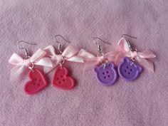 Kawaii/cute Pastel candy bear earrings kawaii candy candyland sweets punk pink blue purple glitter see through heart shape festival hoop Kawaii Accessories, Purple Accessories, Jewelry Accessories, Pastel Candy, Cute Jewelry, Jewlery, Purple Glitter, Cute Earrings, Kawaii Cute