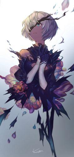 ★ かりんと山田 | さよなら機械人形 ☆ ⊳ 2B (nier: automata) ✔ republished w/permission