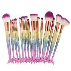 Enthusiastic 1 Pcs Mermaid Makeup Brush Set Fish Tail Foundation Powder Eyeshadow Make Up Brushes Contour Blending Cosmetic Brushes Beauty & Health Makeup