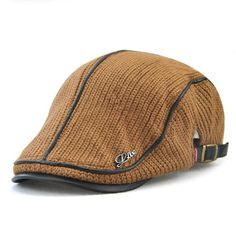 eaa882d625d JAMONT 2019 High Quality Brand Knitted Beret Casquette Homme Leather Flat  Cap for Men Boina Hombre Visor Hat Planas Snapback Hat
