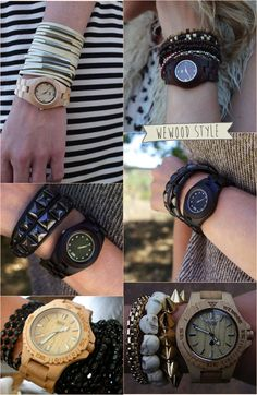 A beautiful selection of our ladies WeWOOD wooden watches - Eco Guardian Fashion Shoes, Fashion Accessories, Mens Fashion, Wooden Watch, Watch Necklace, Girly Things, Best Gifts, Watches, Pendants