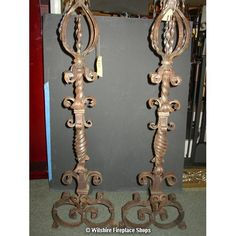 """Buy antique andirons Fireplace from Wilshire Fireplace Shop; Its Dimensions 42"""" inch Height & Price $3,750.00"""