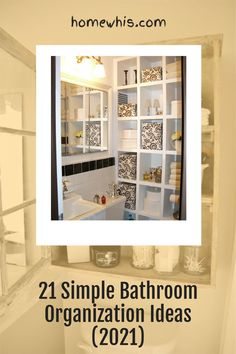 Wouldn't it be great to wake up to a clean and tidy bathroom where everything looks pretty and properly organized? Here are 21 of the best bathroom storage ideas to organize your bathroom counter, bathtub and give you that storage space you wished you had! You'll learn how to organize under the bathroom sink and utilize organizers to gain storage space you never had before #homewhis #bathroomorganization #storageideas #undersinkorganization #organization #declutter #bathroomcounter Bathroom Counter Organization, Under Sink Organization, Home Organization Hacks, Organizing Your Home, Closet Organization, Bathroom Storage, Storage Ideas, Storage Spaces, Amazing Bathrooms