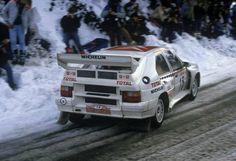 Citroen BX 4TC (Gr.B/Cl.12) Jean Claude Andruet-Annick Peuvergne Rallye Automobile de Monte-Carlo (1986)