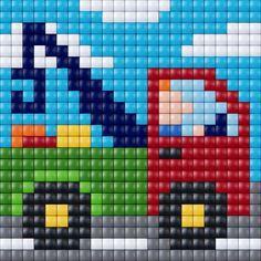 Fant noen fine diagrammer av e Baby Cross Stitch Patterns, Cross Stitch Borders, Cross Stitch Baby, Cross Stitch Embroidery, Pixel Crochet, Crochet Quilt, Knitting Charts, Baby Knitting Patterns, Pixel Art