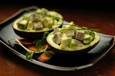 Freybe Curried Avocado Boats