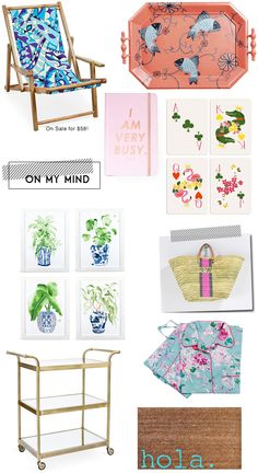 Mimosa Lane: On My Mind || Pucci Inspired Lawn chairs and other goodies