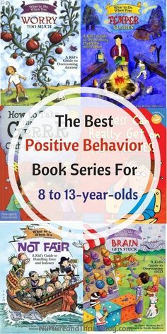 Change your child's behavior with books! The best Positive Behavior Book Series for 4 to 7-year-olds. Great resources for parents from Ashley Soderlund Ph.D. via /nthrive/