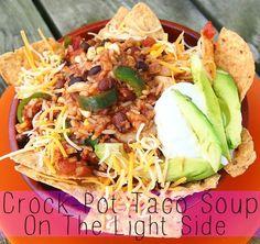 Vegetarian Crock Pot Taco Soup Slow Cooker Recipes, Crockpot Recipes, Soup Recipes, Dinner Recipes, Cooking Recipes, Chef Recipes, Mexican Food Recipes, Whole Food Recipes, Vegetarian Recipes