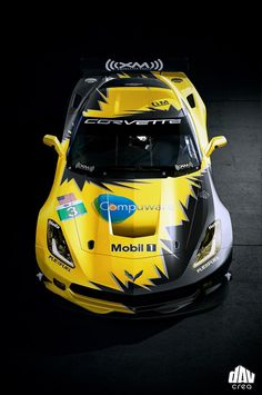 2013 Corvette C7R rendering, via DavCreations graphic design motorsport