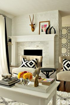 Living room makeover with tons of DIY projects!