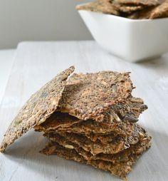 Chia seed crackers, can't wait to try these!
