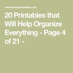 20 Printables that Will Help Organize Everything - Page 4 of 21 -