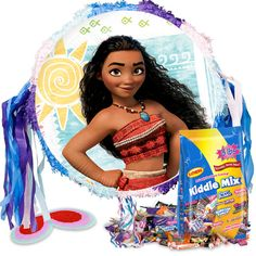 Check out Moana Pull String Pinata Kit | Moana party supplies for your next birthday bash from Wholesale Party Supplies from Wholesale Party Supplies