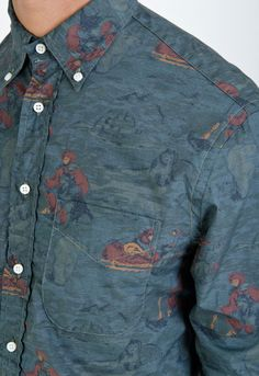 Gitman Brothers Vintage Printed Oxford BD Shirt