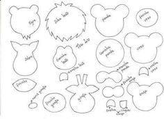 Noah's Ark in Eve with Molds - School Only Felt Puppets, Felt Finger Puppets, Felt Diy, Felt Crafts, Paper Crafts, Felt Animal Patterns, Stuffed Animal Patterns, Safari Birthday Party, Pencil Toppers