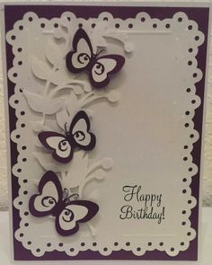 Birthday Card # Used Cricut Elegant Edges, Serenade  Stretch Your Imagination # By Cindy