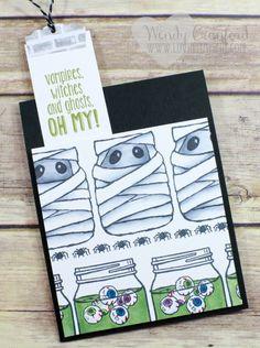 Create this super fun monster bookmark card using the Jar of Haunts stamp set…
