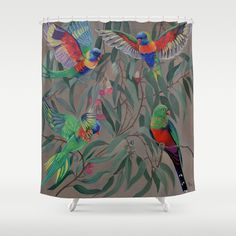 Customize your bathroom decor with unique shower curtains designed by artists around the world. Made from 100% polyester our designer shower curtains are printed in the USA and feature a 12 button-hole top for simple hanging. The easy care material allows for machine wash and dry maintenance. Curtain rod, shower curtain liner and hooks not included. Dimensions are 71in. by 74in. Button Hole, Wash N Dry, Curtain Rods, Shower Curtains, Hooks, Artists, Printed, Usa, Bathroom