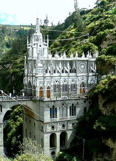 Santuario de Las Lajas (Colombia) My great grandmothers sister, Cecelia was a nun here. Oh The Places You'll Go, Places To Travel, Places To Visit, Wonderful Places, Beautiful Places, Columbia, Colombia Travel, Beautiful Buildings, Kirchen