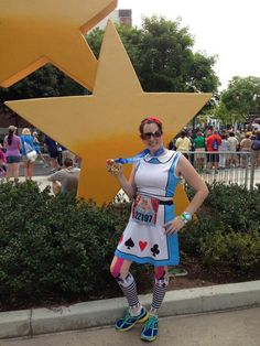 Melissa at the finish of the Disneyland 10k in her Gazella Alice in Wonderland inspired costume https://www.facebook.com/photo.php?fbid=477511555678416&set=a.394376860658553.39850011.392640247498881&type=1&theater