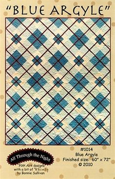 Blue Argyle quilt pattern