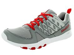 Reebok Mens Sublite Train Rs 20L SteelGreyRedWhite Training Shoe 11 Men US *** Click image to review more details.