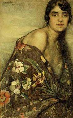 Saturnino Herrán, La criolla del mantón |Th Creole Shawl 1915