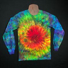 2c97f41d2f89f6 Size Small Long Sleeve Tie Dye Shirt • Rainbow Spiral Ice Dye – Detroit Tie  Dye