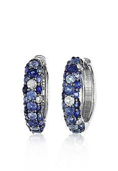 Effy Sterling Silver Blue Sapphire Hoop Earrings #belk #FineJewelry