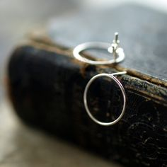 Open Circle Earrings Sterling Silver Post by ShopClementine, $29.00