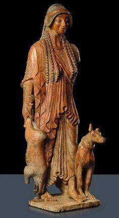 Artume, the Etruscan Artemis / Diana, 2nd century bce.