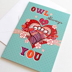 Valentine's Day Owl Card