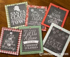 Turn FREE Printables into ornaments...LOVE THIS IDEA!!!