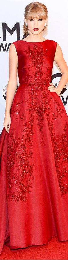 Taylor Swift | Elie Saab --Taylor always looks stunning in red!