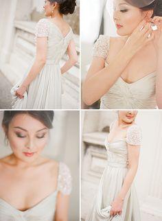 Elegant Australian Wedding by Jemma Keech - magnolia rouge Pretty Wedding Dresses, Colored Wedding Dresses, Wedding Looks, Elegant Wedding, Bridal Dresses, Dream Wedding, Ivory Wedding, Champagne Wedding Colors, Champagne Colour
