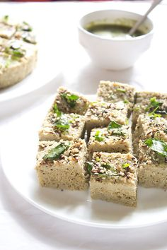 moong dal dhokla - Not really a bread as it's made with beans but the consistency makes you think otherwise.