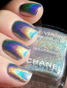 Chanel Holographic Shimmery Nails ❣