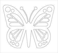 small butterfly templates