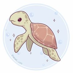 Next up on my endangered series is the Hawksbill Sea turtle they're pretty dang cool ✨ (They're currently critically endangered ) Cute Kawaii Animals, Cute Animal Drawings Kawaii, Cute Drawings, Kawaii Doodles, Kawaii Art, Kawaii Chibi, Cute Turtles, Dibujos Cute, Anime Animals