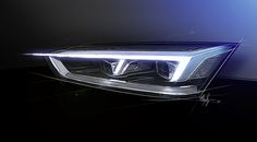 AUDI A5 2016, Headlamp Design Sketch